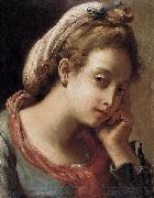 Gaetano Gandolfi Portrait of a Young Woman oil painting