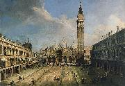 Giovanni Antonio Canal The Piazza San Marco in Venice oil on canvas