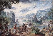 Hans Bol Landscape with the Fall of Icarus oil painting artist