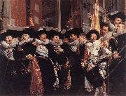 Hendrik Gerritsz. Pot Officers and sergeants of the St Hadrian Civic Guard on their retirement in 1630 oil painting reproduction