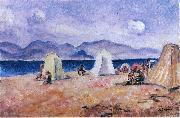 Henri Lebasque Prints On the Beach painting