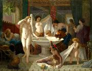 Henri-Pierre Picou Young women bathing oil painting reproduction