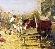 Henry Herbert La Thangue The Appian Way oil on canvas