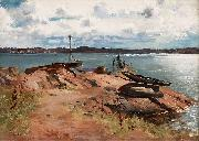 Hugo Birger Vid bryggan, Lysekil china oil painting artist
