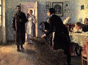 Ilya Repin Unexpected Visitors or Unexpected return oil painting reproduction