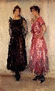 Isaac Israels Two models, Epi and Gertie, in the Amsterdam Fashion House Hirsch china oil painting reproduction