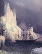 Ivan Aivazovsky Icebergs in the Atlantic oil on canvas