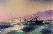 Ivan Aivazovsky Gunboat off Crete oil on canvas
