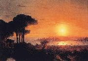 Ivan Aivazovsky Sunset over the Golden Horn oil on canvas