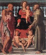 Jacopo Pontormo Madonna and Child with Two Saints oil painting reproduction