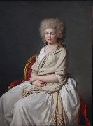Jacques-Louis  David Countess of Sorcy oil painting reproduction