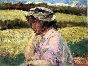 James Carroll Beckwith Lost in Thought oil on canvas