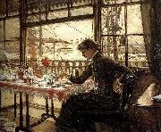 James Tissot Room Overlooking the Harbour oil painting reproduction