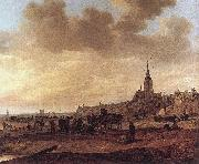 Jan van Goyen Beach at Scheveningen oil painting