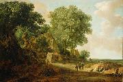 Jan van Goyen Landscape with Cottage and Figures oil painting