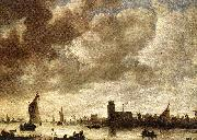 Jan van Goyen View of the Merwede before Dordrecht oil painting reproduction