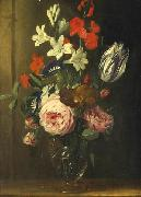 Jan van den Hecke Flower still life in a glass vase china oil painting reproduction