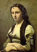Jean-Baptiste Camille Corot The Woman with a Pearl oil on canvas