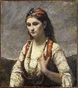 Jean-Baptiste Camille Corot Young Woman of Albano oil on canvas
