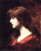 Jean-Jacques Henner Head of a Girl painting
