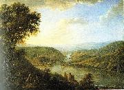 Johann Caspar Schneider Rhine valley by Johann Caspar Schneider oil on canvas