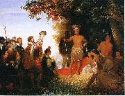 John Gadsby Chapman Coronation of Powhatan oil on canvas