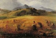 John MacWhirter Harvesting in Arran painting