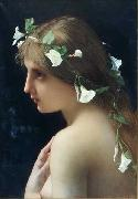 Jules Joseph Lefebvre Nymph with morning glory flowers china oil painting reproduction