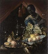 Juriaen van Streeck Still-life with peaches and a lemon china oil painting reproduction