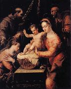 Lavinia Fontana Holy Family with Saints painting