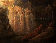 Louis Janmot The golden stairs oil on canvas