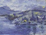 Lovis Corinth Lake Lucerne in the afternoon oil painting reproduction