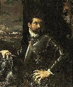 Ludovico Carracci Portrait of Carlo Alberto Rati Opizzoni in Armour oil on canvas