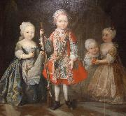 Maria Giovanna Clementi Charles Emmanuel III's children oil on canvas