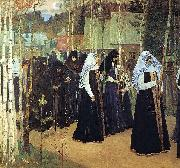 Mikhail Nesterov Taking the Veil oil painting reproduction