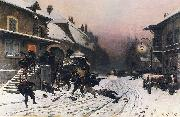 Neuville, Alphonse de The Attack at Dawn china oil painting artist