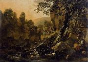 Nicolaes Pietersz. Berchem The Waterfall oil painting reproduction