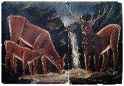Niko Pirosmanashvili A Family of Deer oil painting