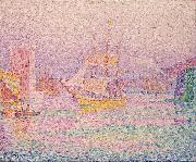 Paul Signac Harbour at Marseilles painting