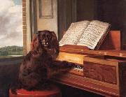 Philip Reinagle Portrait of an Extraordinary Musical Dog oil
