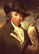 Philip Reinagle Man with Falcon oil