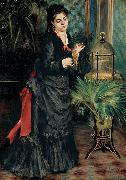 Pierre Auguste Renoir Woman with a Parrot oil painting