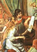 Pierre Auguste Renoir Girls at the Piano oil painting