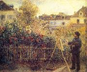 Pierre Auguste Renoir Monet painting in his Garten in Argenteuil oil painting