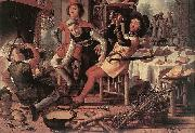 Pieter Aertsen Hearth painting