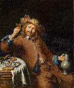 Pieter Cornelisz. van Slingelandt Breakfast of a Young Man oil on canvas