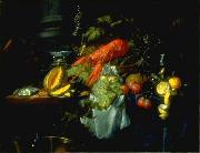 Pieter de Ring Still Life with Lobster oil
