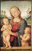 Pietro Perugino Madonna with Child and the Infant St John oil painting