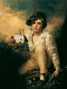 RAEBURN, Sir Henry Boy and Rabbit oil painting artist