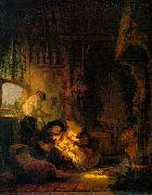 Rembrandt van rijn Holy Family painting